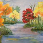 Redland Yurara Art Society - 'Autumn not Spring' - Gloria Dietz-Kiebron - Acrylic - Painting - Art Exhibition - Major Autumn Exhibition