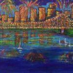 Redland Yurara Art Society - 'Fireworks' - Tarja Rantala - Acrylic - Painting - Art Exhibition - Major Autumn Exhibition