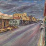 Redland Yurara Art Society - 'Gulgong Sunday Morning' - Ray Hackett - Oil - Painting - Art Exhibition - Major Autumn Exhibition