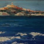 Redland Yurara Art Society - 'Leaving Montague Island' - Lynne Wright - Oil - Painting - Art Exhibition - Major Autumn Exhibition