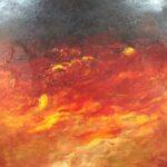 'Night Fire' Col Owens $100 (490 x 390mm) Acrylic