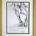 Redland Yurara Art Society Major Autumn Exhibition 'Pandanus at Raby Bay' Danielle Bain Drawing