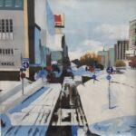 Redland Yurara Art Society - 'Sapporo in Winter' - Angela Bruce - Acrylic - Painting - Art Exhibition - Major Autumn Exhibition - Commended