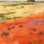 Redland Yurara Art Society Major Autumn Exhibition 'Simpson Reimagined' Karen Munster Acrylic landscape - COMMENDED