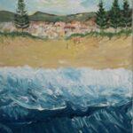 Redland Yurara Art Society - 'Surf's Up' - Evelyn Kerlin - Acrylic - Painting - Art Exhibition - People at the Beach