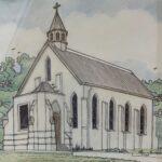 Redland Yurara Art Society - 'Anglican Parish Church, Cleveland' - Peter Veal - Pen and Ink - Painting - Art Exhibition - Vintage