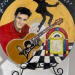 Redland Yurara Art Society -'Let's Rock 'N' Roll' - Raija Jantti - Acrylic - Painting - Art Exhibition - Vintage