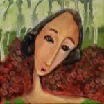 Redland Yurara Art Society - 'Roses' - Elmarie Van Der Walt - Acrylic - Painting - Art Exhibition - Vintage