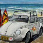 Redland Yurara Art Society - 'Surfin Safari' - Raija Jantti - Acrylic - Painting - Art Exhibition - Vintage