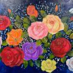Redland Yurara Art Society - 'Vintage Roses' - Tarja Rantala - Acrylic - Painting - Art Exhibition - Vintage