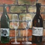 Redland Yurara Art Society - 'Vintage Wine' - John Holmes - Acrylic - Painting - Art Exhibition - Vintage