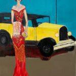 Redland Yurara Art Society - 'Yesteryear' - Tarja Rantala - Acrylic - Painting - Art Exhibition - Vintage