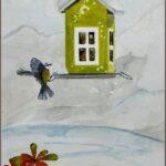 Redland Yurara Art Society - 'Birdfeeder in Snow' - Angela Bruce - Watercolour - Painting - Art Exhibition - Weather
