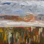 Redland Yurara Art Society - 'Brewing' - Rosie Sheehan - Acrylic - Painting - Art Exhibition - Weather