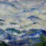 Redland Yurara Art Society - 'Foggy Morning NZ' - Jacqui Selke-Pike - Pastel Painting - Art Exhibition - Weather