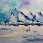 Redland Yurara Art Society - 'Icy Cold' - Gloria Dietz-Kiebron - Acrylic - Painting - Art Exhibition - Weather