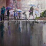 Redland Yurara Art Society - 'Incoming Showers' - Christine Mapp - Acrylic - Painting - Art Exhibition - Weather