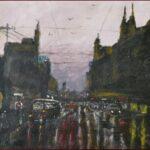 Redland Yurara Art Society - 'Melbourne Storm' - Ray Hackett - Oil - Painting - Art Exhibition - Weather