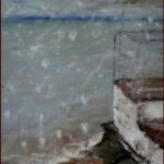 Redland Yurara Art Society - 'Rain across the Bay' Jacqui Selke-Pike - Pastel - Painting - Art Exhibition - Weather