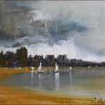 Redland Yurara Art Society - 'Storm Clouds' - Ray Hackett - Oil - Painting - Art Exhibition - Weather