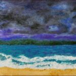 Redland Yurara Art Society - 'Storm Clouds over Straddie' - Tarja Rantala - Acrylic - Painting - Art Exhibition - Weather