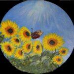 Redland Yurara Art Society - 'Sunny Sunflowers' - Raija Jantti - Acrylic - Painting - Art Exhibition - Weather