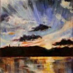 Redland Yurara Art Society - 'Sunset' - Annie Radcliffe - Acrylic - Painting - Art Exhibition - Weather