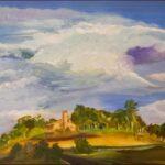 Redland Yurara Art Society - 'The Church in the Sky' - Danielle Bain - Acrylic - Painting - Art Exhibition - Weather