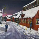 Redland Yurara Art Society - 'Winter in Reykjavic' - John Holmes -Acrylic - Painting - Art Exhibition - Weather