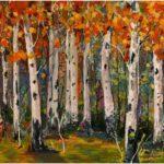 Redland Yurara Art Society - 'Autumn' - Mel Bridges - Acrylic - Painting - Major Spring Art Exhibition - Landscapes