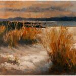 Redland Yurara Art Society - 'Beach' - Gillian Goldsworthy - Pastel - Painting - Major Spring Art Exhibition - Landscapes