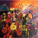 Redland Yurara Art Society - 'Carnival Mayhem' - Mel Bridges - Acrylic - Painting - Major Spring Art Exhibition - Landscapes