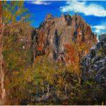 Redland Yurara Art Society - 'Chillago HIlls' - Jacqui Selke-Pike - Oil - Framed - Painting - Major Spring Art Exhibition - Landscapes
