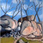 Redland Yurara Art Society - 'Girraween' - Eunice King - Acrylic - Painting - Major Spring Art Exhibition - Landscapes