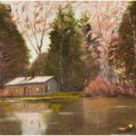 Redland Yurara Art Society - 'Lake Cabin' - Ray Hackett - Oil - Framed - Painting - Major Spring Art Exhibition - Landscapes