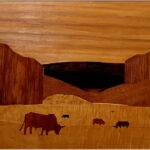 Redland Yurara Art Society - 'Manning Scene' - Mary Kirkby - Wood - Major Spring Art Exhibition - Landscapes