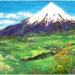 Redland Yurara Art Society - 'Mt Taranaki' - Jacqui Selke-Pike - Oil - Framed - Painting - Major Spring Art Exhibition - Landscapes
