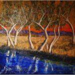 Redland Yurara Art Society - 'Outback Sunset' - Tarja Rantala - Acrylic - Painting - Major Spring Art Exhibition - Landscapes