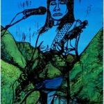 Redland Yurara Art Society - 'PJ Harvey-Landscape' - Andrew Sewell - Woodblocks - Painting - Major Spring Art Exhibition - Landscapes