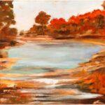 Redland Yurara Art Society - 'The Billabong' - Bernie Dawson - Oil - Painting - Major Spring Art Exhibition - Landscapes