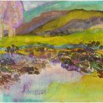 Redland Yurara Art Society - 'The Bramble Patch' - Amanda Slater - Acrylic and Mixed Media - Painting - Major Spring Art Exhibition - Landscapes