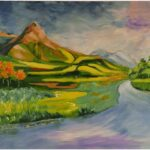 Redland Yurara Art Society - 'The Peak' - Gloria Dietz-Kiebron - Acrylic - Painting - Major Spring Exhibition - Art Exhibition - Landscapes