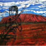 Redland Yurara Art Society - 'Tina Weymouth-Uluru' - Andrew Sewell - Woodblocks - Major Spring Art Exhibition - Landscapes