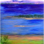 Redland Yurara Art Society - 'Toondah' - Helen Boydell - Acrylic - Painting - Major Spring Art Exhibition - Landscapes