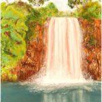 Redland Yurara Art Society - 'Tropical Waterfall' - Raija Jantti - Acrylic and Oil - Painting - Major Spring Art Exhibition - Landscapes
