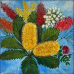 Redland Yurara Art Society - 'Bush Flowers' - Tarja Rantala - Acrylic - Painting - Art Exhibition - Florals