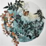 Redland Yurara Art Society - 'Coming Spring' - Anita Mangakahia - Gelliprint - Print - Art Exhibition - Florals