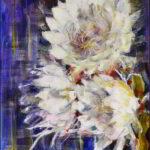 Redland Yurara Art Society - 'Dama de Noche' - Annie Radcliffe - Acrylic - Painting - Art Exhibition - Florals