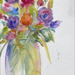 Redland Yurara Art Society - 'Fallen Bloom' - Angela Bruce - Watercolour - Painting - Art Exhibition - Florals