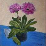 Redland Yurara Art Society - 'Gerbera' - Evelyn Kerlin - Acrylic - Painting - Art Exhibition - Florals
